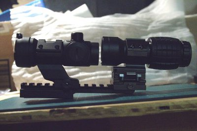 NcSTAR 30mm Tactical Cantilever Red and Green Dot Sight Review
